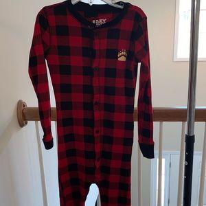 Unisex Kids Buffalo Print Pajamas